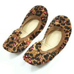 NWOT Yosi Samra Samara Cheetah Ballet Flats S7